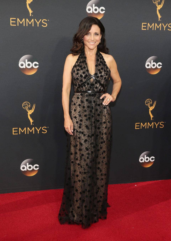 Julia Louis-Dreyfus at Emmy 2016 red carpet
