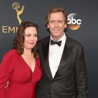 Hugh Laurie and Olivia Colman at Emmy 2016 red carpet