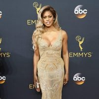 Laverne Cox at Emmy 2016 red carpet