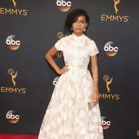 Yara Shahidi at Emmys 2016 red carpet