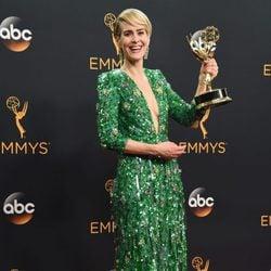 Sarah Paulson poses after Emmys 2016