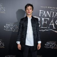 Ezra Miller at the world premiere of 'Fantastic Beasts and Where to Find Them'.