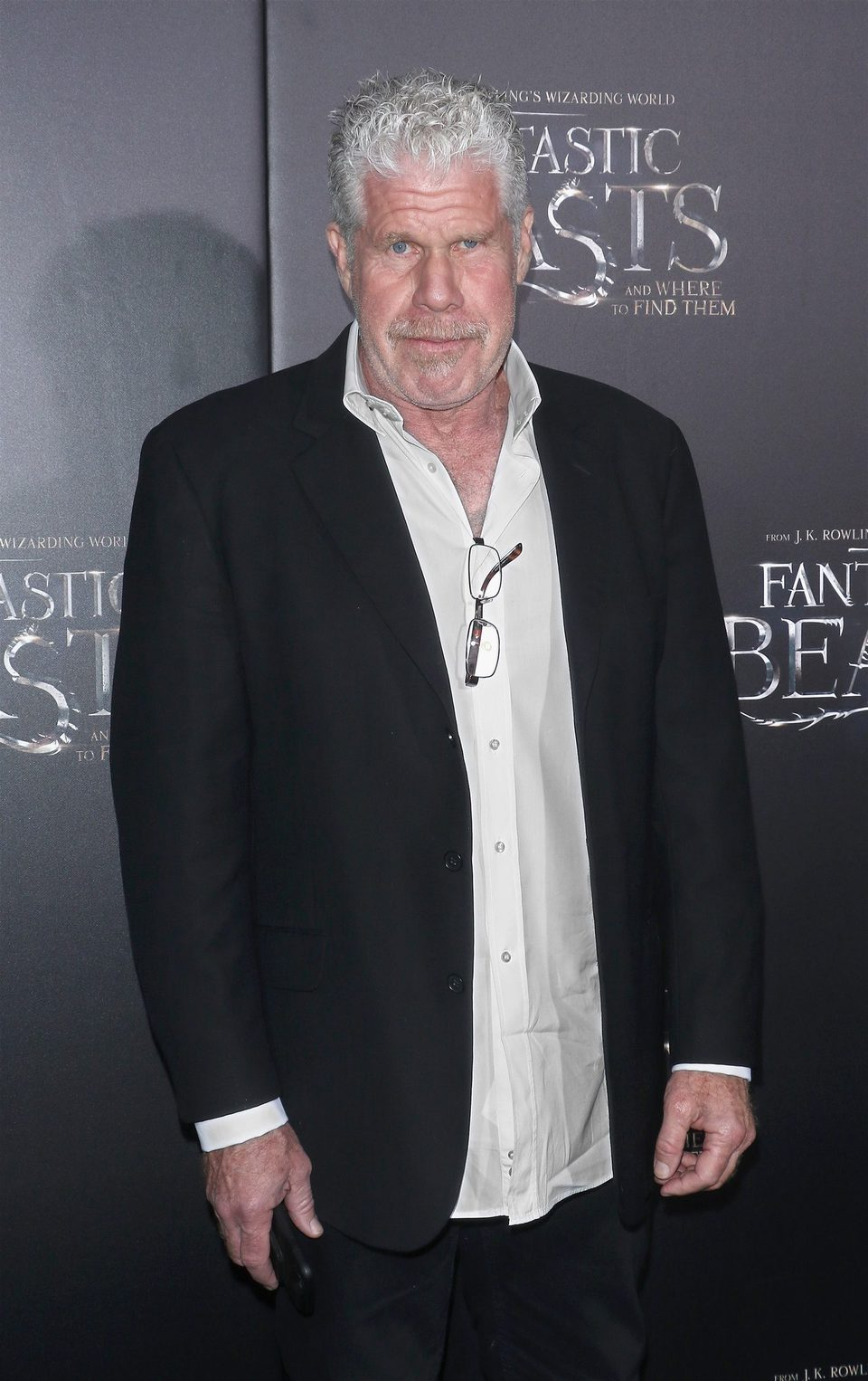 Ron Perlman at the world premiere of 'Fantastic Beasts and Where to Find Them'.