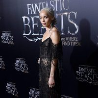 Zoë kravitz at the world premiere of 'Fantastic Beasts and Where to find Them'