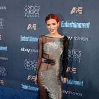 The actress Bella Thorne is posing in Critics Choice Awards