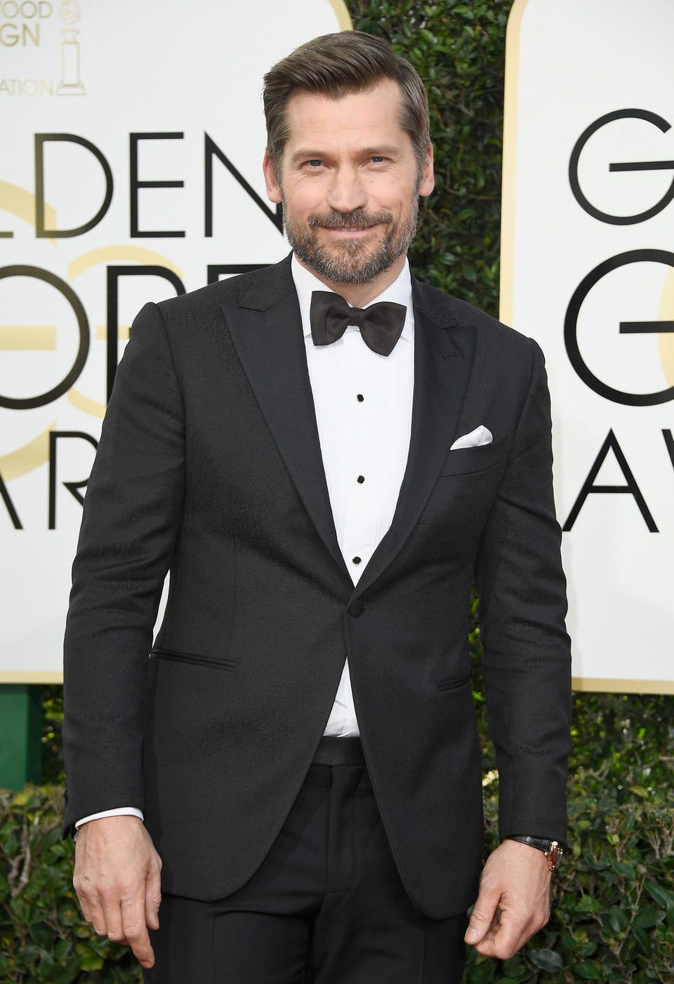 Nikolaj Coster-Waldau at the 2017 Golden Globes red carpet