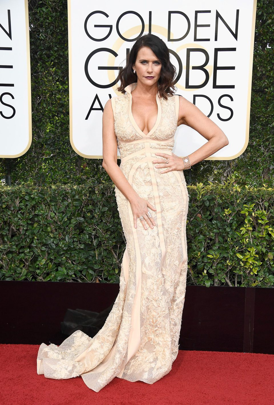 Amy Landecker at Golden Globes 2017 red carpet