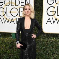Kristen Bell at Golden Globes 2017 red carpet
