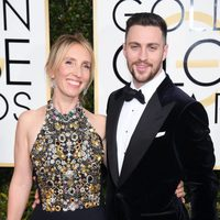 Aaron, Sam Taylor-Johnsons at the 2017 Golden Globes red carpet