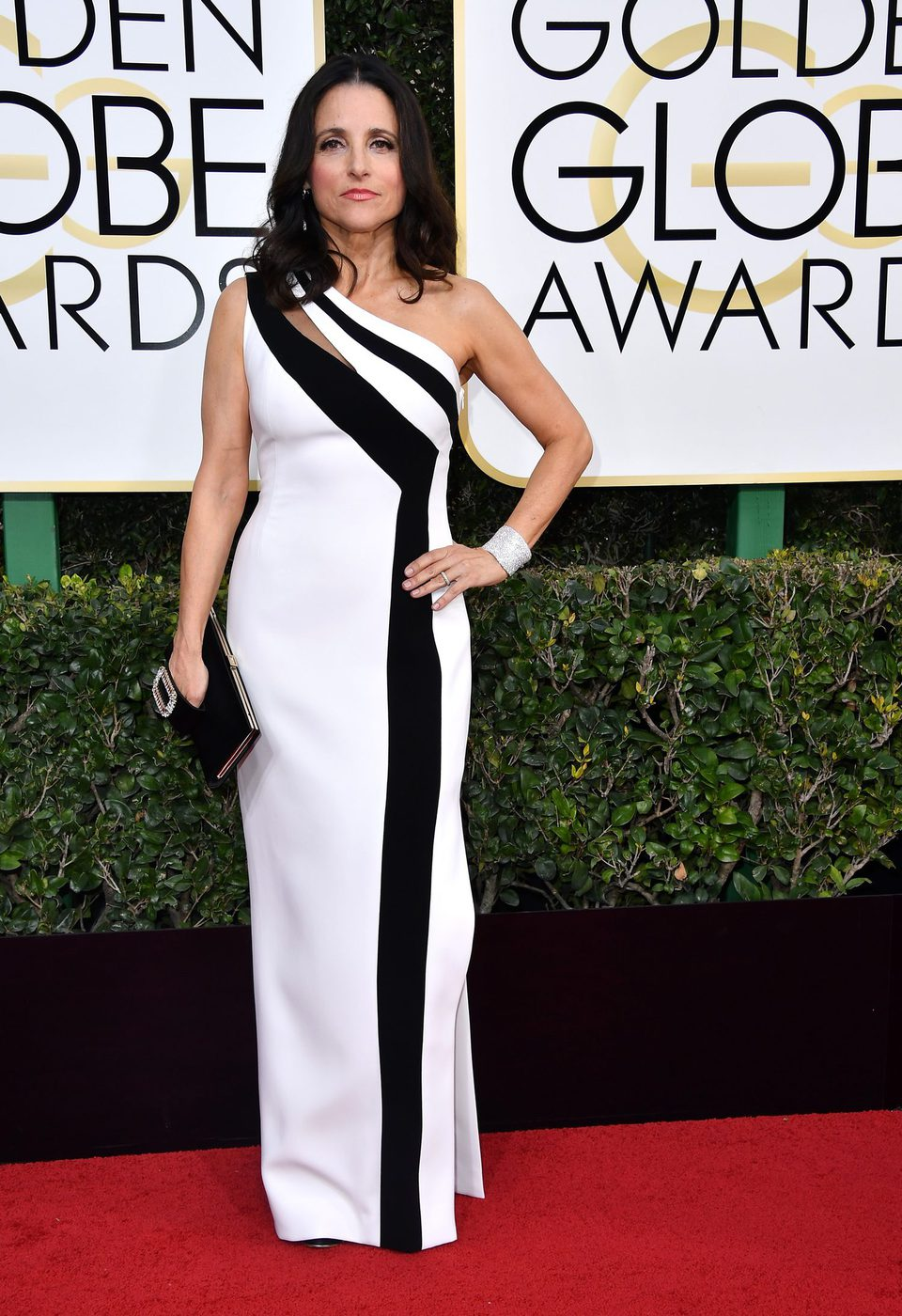 Julia Louis-Dreyfus at Golden Globes 2017 red carpet