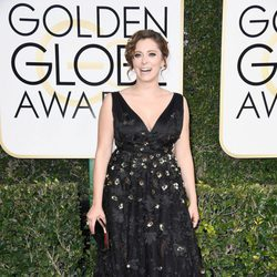 Rachel Bloom at Golden Globes 2017 red carpet