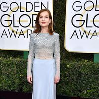 Isabelle Huppert at Golden Globes 2017 red carpet