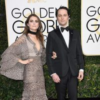 Matthew Rhys and Keri Russell at Golden Globes 2017 red carpet
