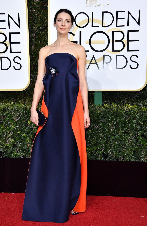 Caitriona Balfe at Golden Globes 2017 red carpet