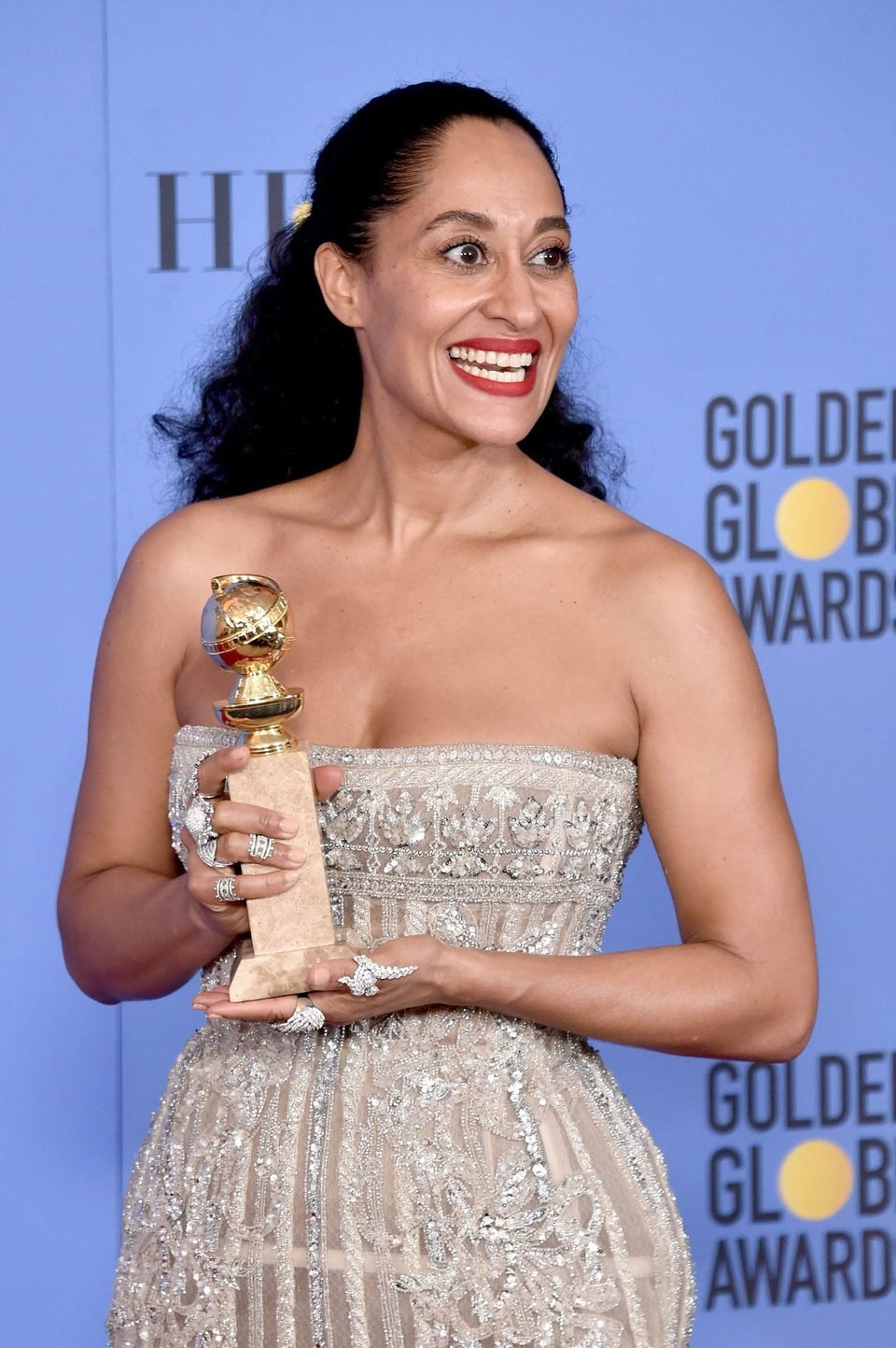 Tracee Ellis Ross after Golden Globes 2017