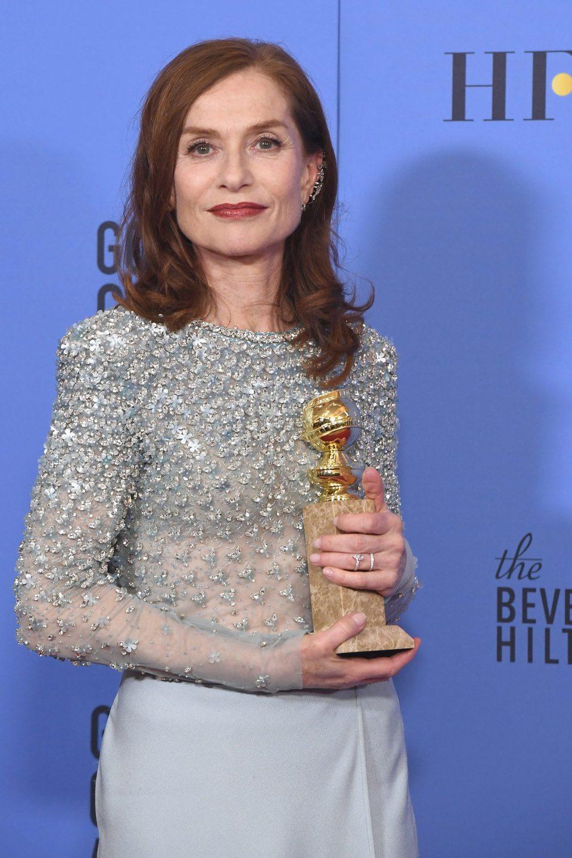 Isabelle Huppert after Golden Globes 2017