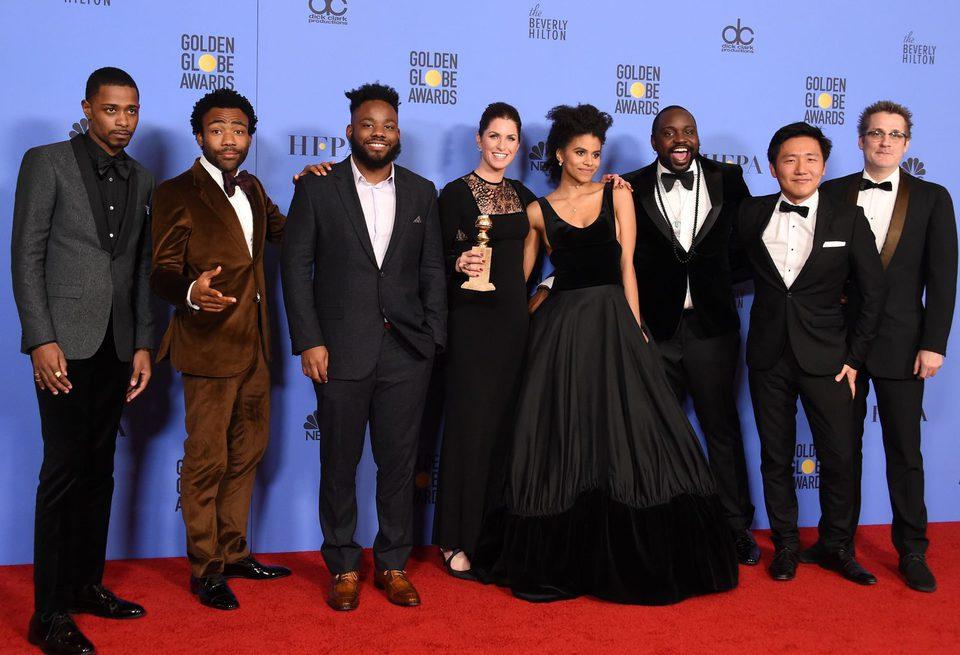 'Atlanta' cast and crew after Golden Globes 2017