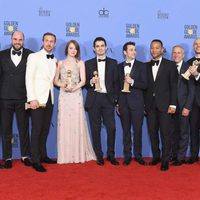 'La La Land' crew and cast after Golden Globes 2017