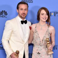 Ryan Gosling, Emma Stone after the 2017 Golden Globes show