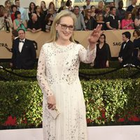 Meryl Streep on the red carpet of SAG Awards 2017