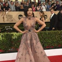 Taraji P. Henson on the red carpet of SAG Awards 2017