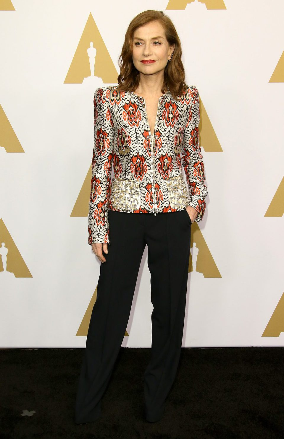 Isabelle Huppert at the 2017 Annual Academy Awards Nominee Luncheon