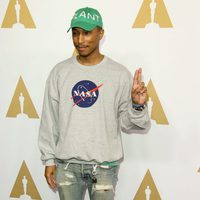 Pharrell Williams at the 2017 Annual Academy Awards Nominee Luncheon