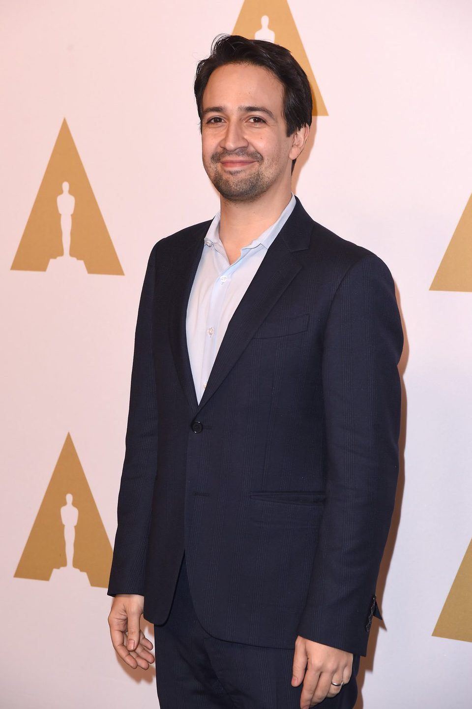 Lin-Manuel Miranda at the 2017 Annual Academy Awards Nominee Luncheon