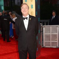 The BAFTA 2017 host, Stephen Fry, at the red carpet of the british awards