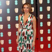 Carmen Ejogo strikes a pose at the red carpet of BAFTA 2017