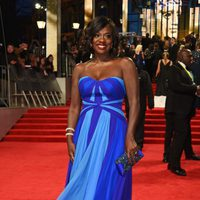 The nominee Viola Davis at the red carpet of BAFTA 2017