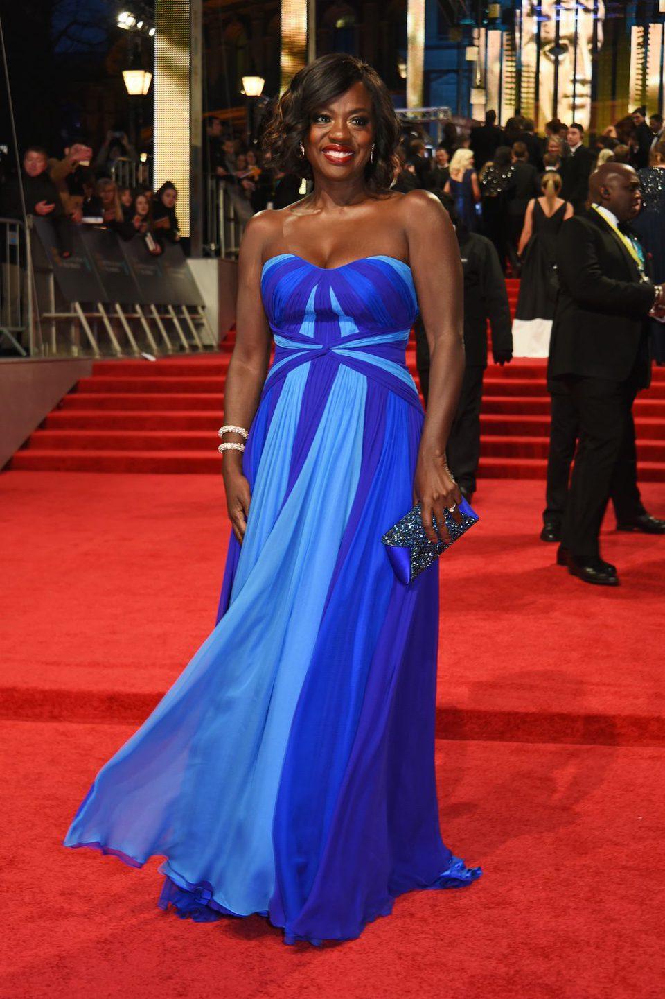 The nominee Viola Davis at the red carpet of BAFTA 2017