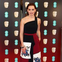 Daisy Ridley, Rey in 'Star Wars', at the red carpet of BAFTA 2017