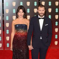 Jamie Dornan at the red carpet BAFTA 2017