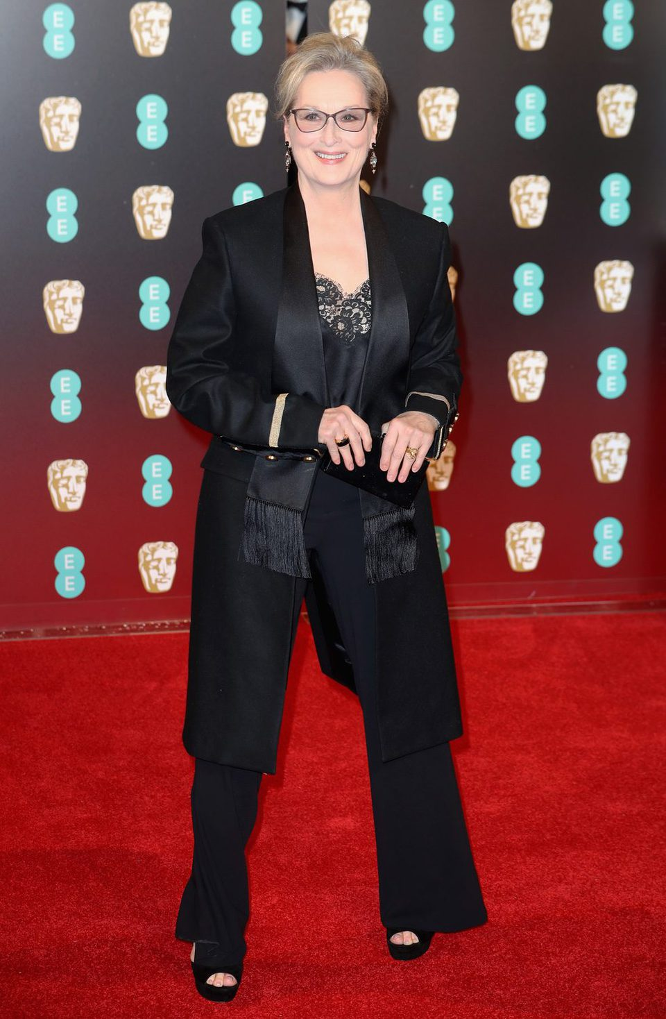 Meryl Sreep at the red carpet of the BAFTA 2017