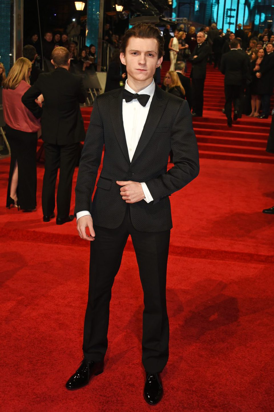 The star of 'Spider-Man: Homecoming', Tom Holland, at BAFTA 2017