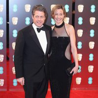 Hugh Grant at red carpet of the BAFTA 2017