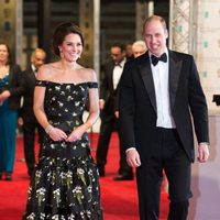 The Royals Kate and William at the BAFTAs 2017 red carpet
