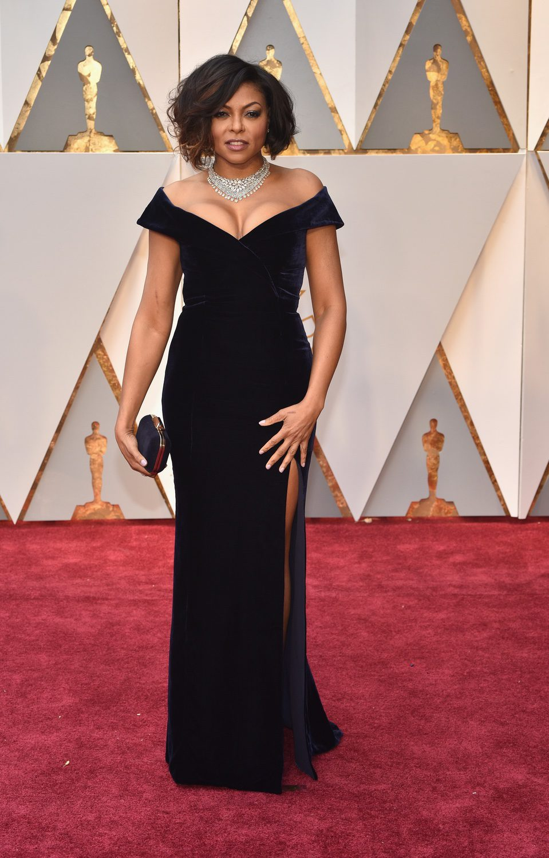 Taraji P. Henson at the red carpet of the Oscar 2017