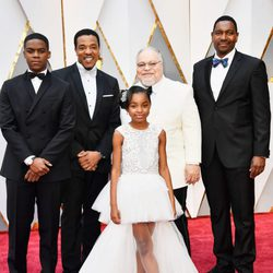 Jovan Adepo, Russell Hornsby, Saniyya Sidney, Stephen Henderson and Mykelti Williamson at the Oscars 2017 red carpet