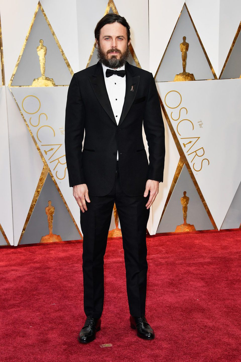 Casey Affleck at the red carpet of the Oscars 2017