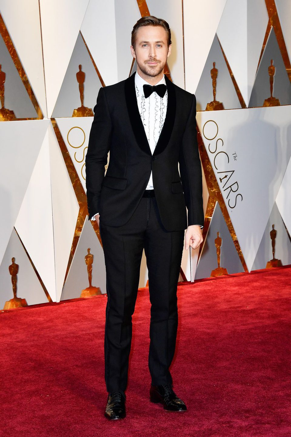 Ryan Gosling at the red carpet of the Oscars 2017