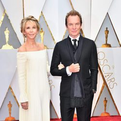Sting and Trudie Styler at the red carpet of the Oscars 2017