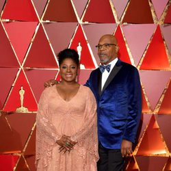 Samuel L. Jackson and LaTanya Richardson  at the red carpet of the Oscars 2017