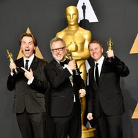 Byron Howard, Rich Moore and Clark Spencer, winner of the Oscar to Best Animated Feature Film for 'Zootopia'