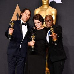 The producers of 'Moonlight', winner of the Oscar 2017 for Best Film