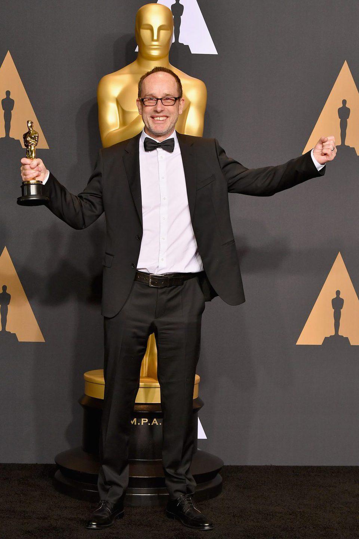 John Gilbert, winner of the Film Editing's Oscar for 'Hackshaw Ridge'