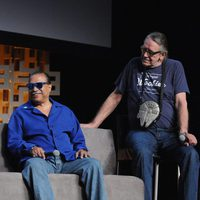 Billy Dee Williams and Peter Mayhew during the Star Wars Celebration