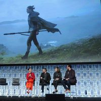 Rey's image during 'The last Jedi' panel at the Star Wars Celebration