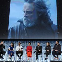 Luke's image during 'the Last Jedi' panel at the Star Wars Celebration